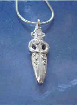 colgante diosa Inanna plata