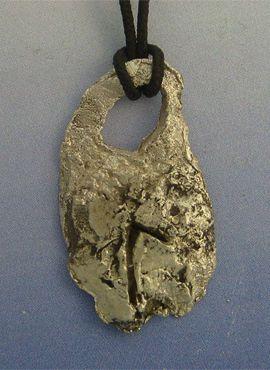 colgante runa vikinga laguz de plata amuleto vikingo