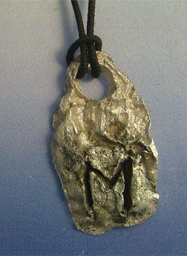 colgante Runa vikinga Ehwaz colgante de plata