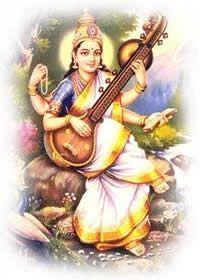 diosa Sarasvati de Sabiduría