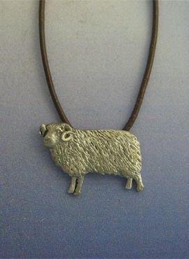 colgante oveja de plata