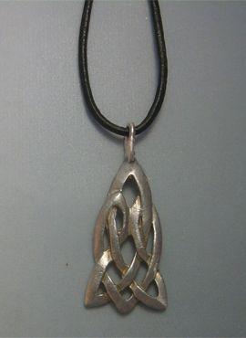 Nudo celta Arturo de Glastonbury colgante plata