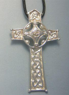 cruz celta plata Ambrosius colgante