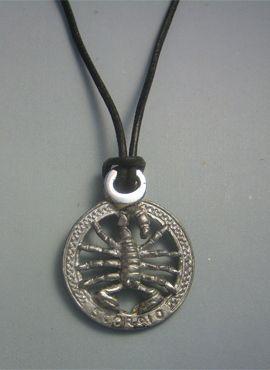 colgante horóscopo escorpión de plata de ley