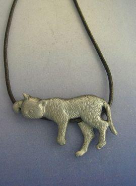 colgante de gato de plata