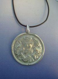 Colgante Coyolxauhqui colgante medalla de plata