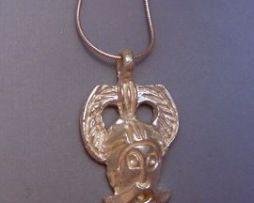 colgante Odín máscara dios vikingo máscara de Ribe