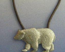 oso de plata colgante amuleto tótem