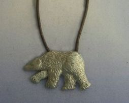 colgante oso polar en plata