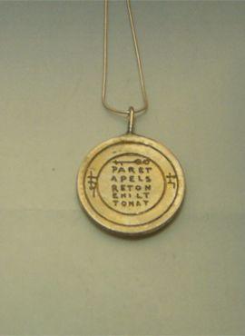 Pentacle de la santé mentale talisman argent