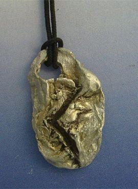 colgante runa vikinga kenaz amuleto colgante vikingo creatividad en plata