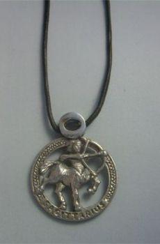 colgante horóscopo sagitario zodiaco de plata del centauro