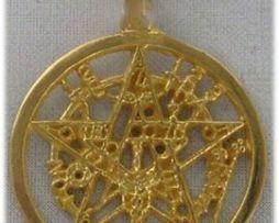 tetragrammaton de oro amuleto colgante