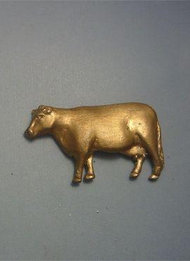 colgante vaca de oro de ley