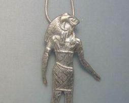 colgante Horus el dios halcón amuleto de Egipto colgante con cordón de plata