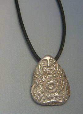 colgante Buda riqueza amuleto de plata