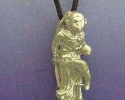 colgante Hanuman dios mono hindusista en plata maciza