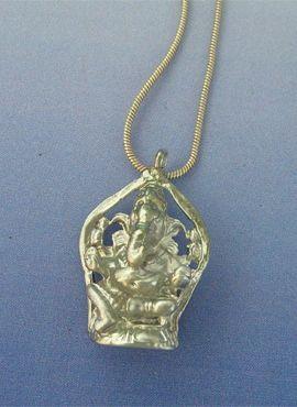colgante Ganesha dios elefante hindu de plata