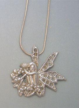 colgante hada jardín amuleto de plata