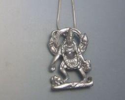 colgante Kali la diosa hinduista amuleto de plata