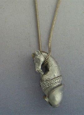 colgante pene caballo de plata