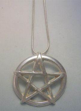 colgante pentáculo amuleto de plata