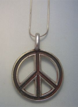 colgante hippie paz y amor universal