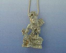 colgante diosa tara tibetana blanca amuleto de plata