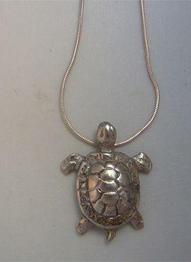 colgante tortuga plata amuleto