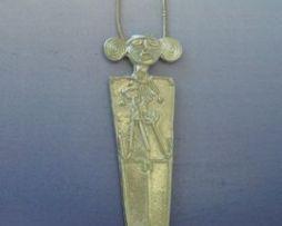 tunjo amuleto muisca colgante de plata