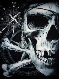 símbolo pirata de calavera y huesos
