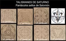 talismán de Saturno, pantáculos de Salomón