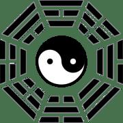 colgante yin yang pa kua