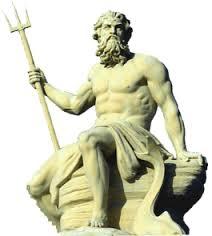 dios Poseidón o Neptuno deidad griega de los mares