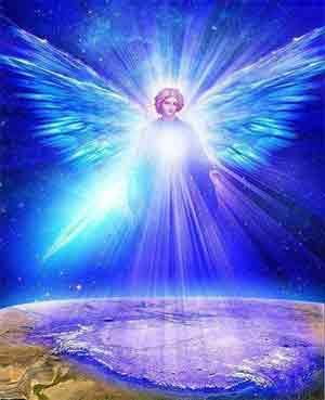 ángel gobernando con su luz a la humanidad