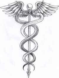 caduceo, símbolo de la medicina