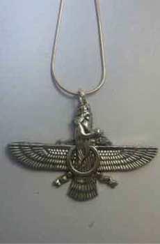 colgante Faravahar de plata