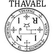 sello talismán angélico de Thavael