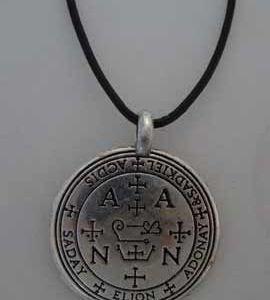 sello de Zadkiel, talismán angélico de plata