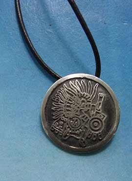 Huitzilopochtli-colgante-de-plata amuleto