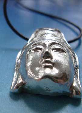 colgante deQuan Yin Kwan Yin Guan Yin Guanyin colgante plata
