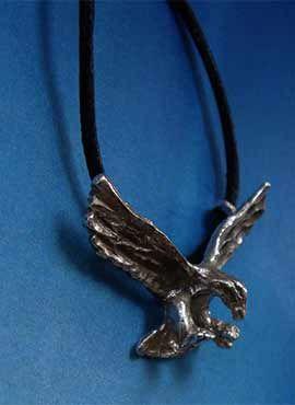 colgante pájaro águila joya de plata