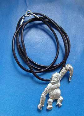 colgante gorila de plata collar simios monos