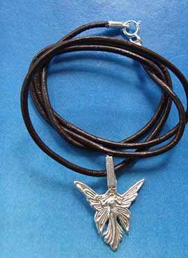 colgante hada Titania amuleto plata