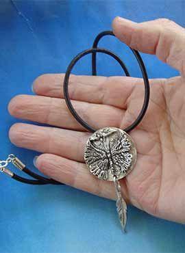 colgante mariposa de plata amuleto etnico