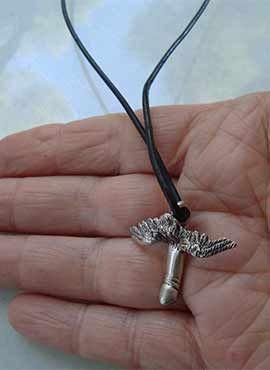 símbolo dios romano Mutunus Tutunos colgante pene