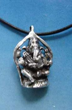 colgante dios Ganesha elefante de plata