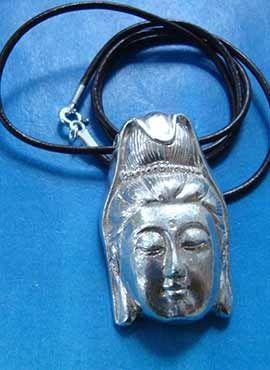joya plata de Quan Yin Kwan Yin Guan Yin Guanyin colgante plata