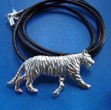 tigre de plata colgante joya