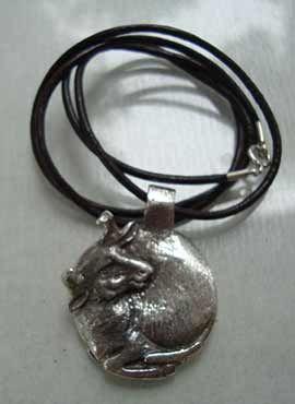 colgante toro luna joya de plata